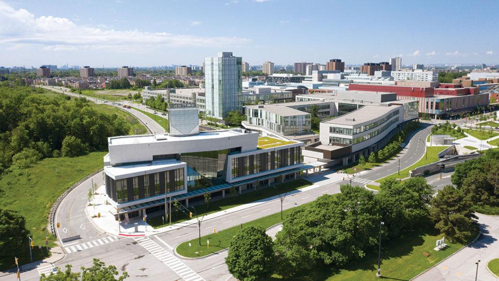 Overhead shot of York University Keele campus